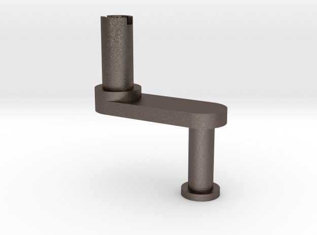 Bolex Rewind Key in Polished Bronzed Silver Steel