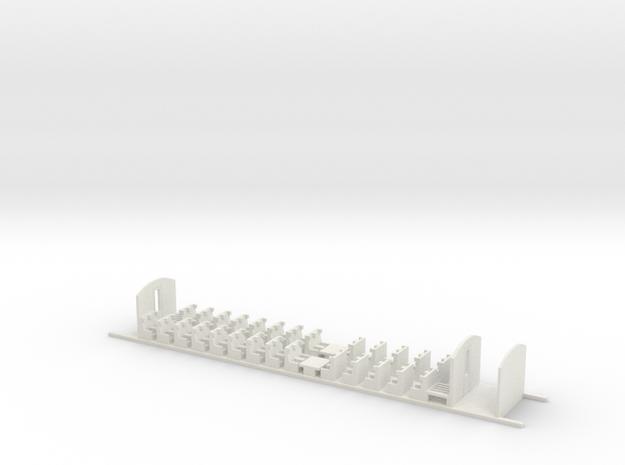 Aménagement 2e Classe Eurostar Intermédiaire HO in White Natural Versatile Plastic
