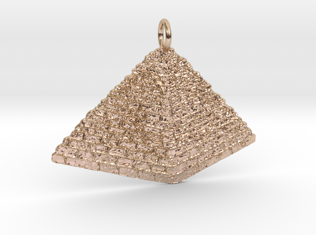 TEMPLE Pendant in 14k Rose Gold Plated Brass