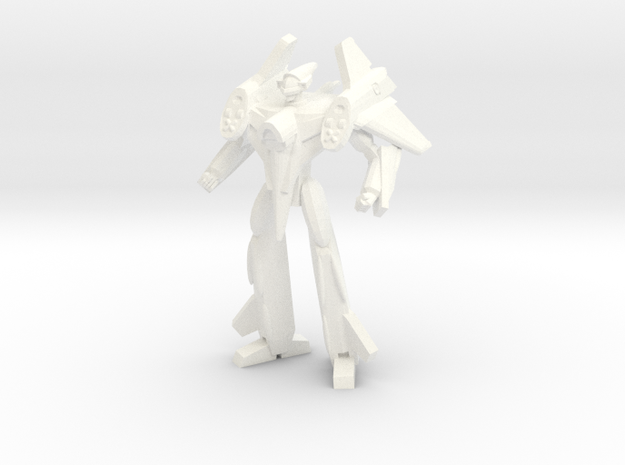 VF-4 Battroid 1/285 in White Strong & Flexible Polished