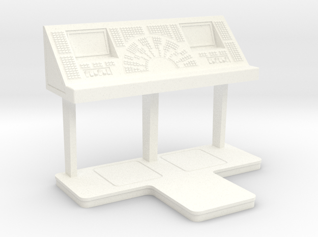 Command Console - Free Standing 1/10 in White Processed Versatile Plastic