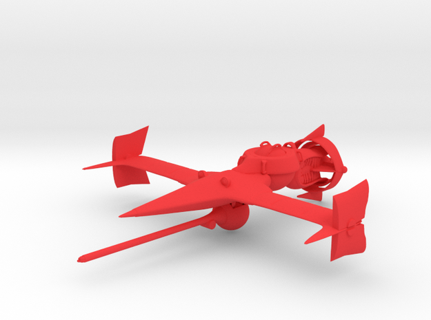 """Cowboy Bebop"" Swordfish II Ship  in Red Strong & Flexible Polished"
