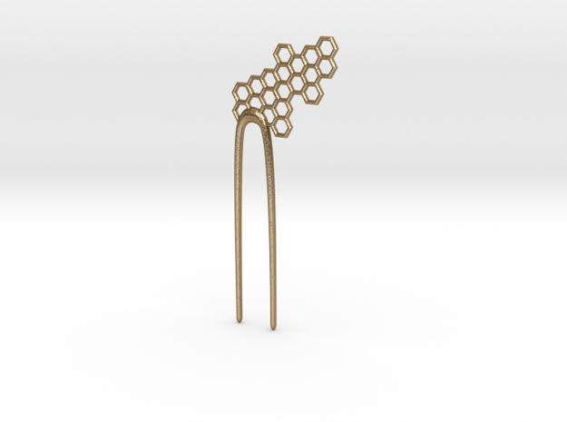 Honeybigpin in Polished Gold Steel