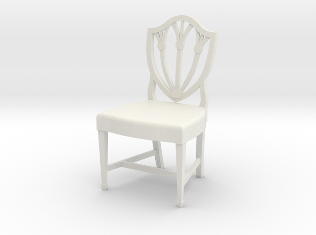 1:24 Shield Chair (Not Full Size) in White Natural Versatile Plastic