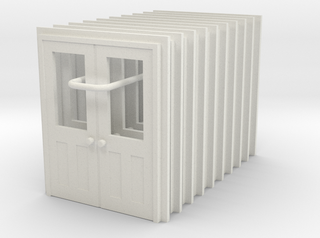 Door Type 11 X 10 HO Scale in White Natural Versatile Plastic
