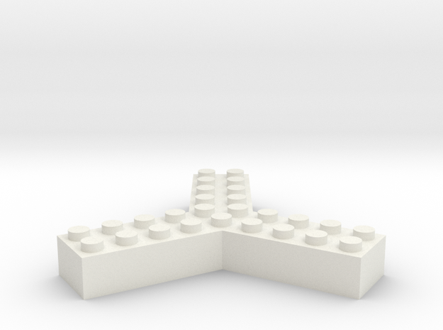 Trilego-2x5 in White Natural Versatile Plastic