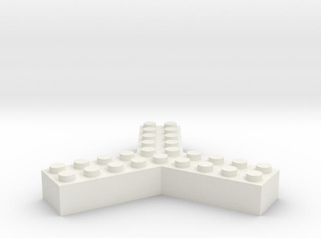 Trilego-2x5 in White Natural Versatile Plastic
