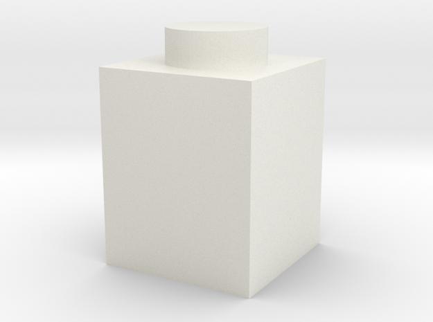 1x1 in White Natural Versatile Plastic