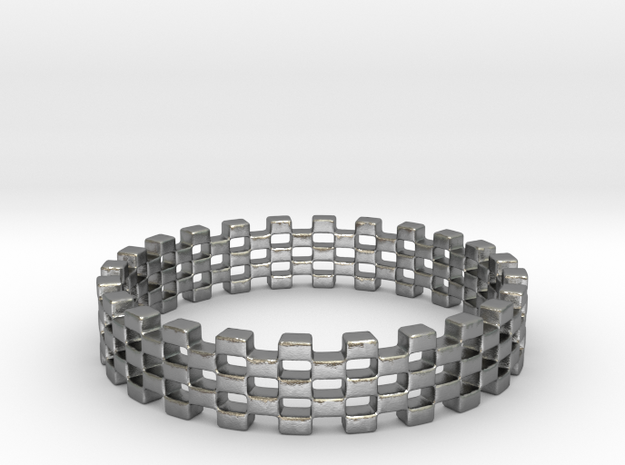 Continum Ring (US Size-7)  in Natural Silver: 7 / 54