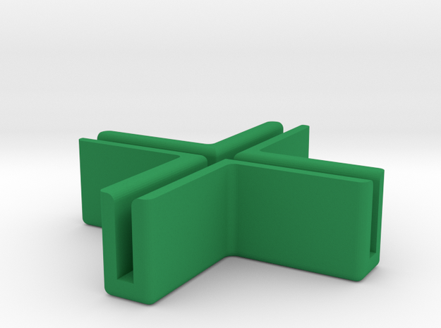 Catacombs (3rd Ed) barrier supports - Corner in Green Strong & Flexible Polished