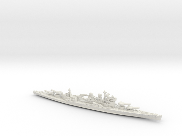UK BC Hood [KGV Style 1942 Refit] in White Strong & Flexible: 1:1800