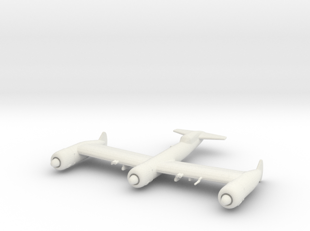 Blohm & Voss P.170 (without ordnance) in White Natural Versatile Plastic: 1:200