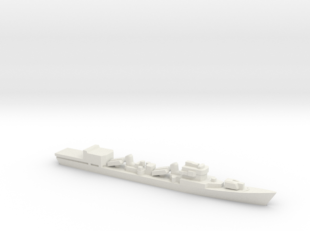 Type 051D Destroyer w/ Helo Hanger, 1/3000 in White Natural Versatile Plastic