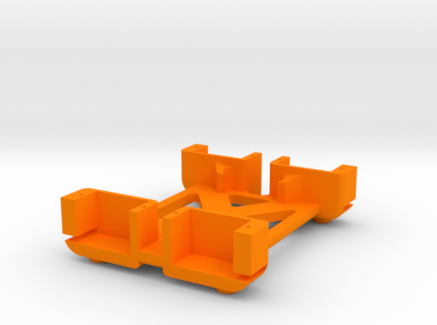 Quadra Bot - Body in Orange Strong & Flexible Polished