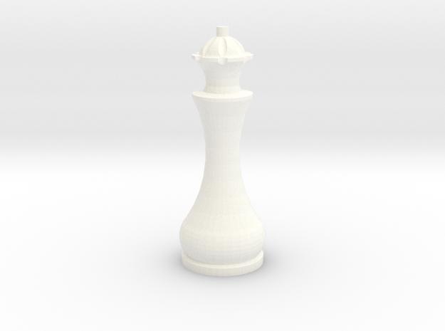 Pomo Queen in White Processed Versatile Plastic