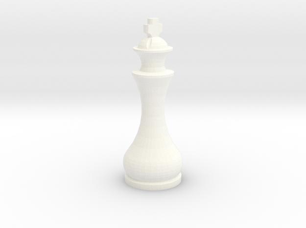 Pomo King in White Processed Versatile Plastic