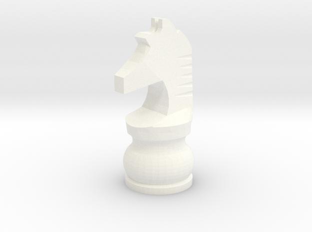 Pomo Knight in White Processed Versatile Plastic