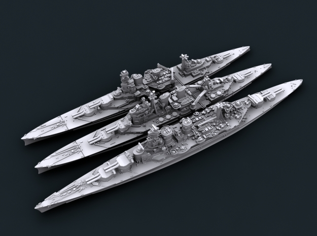 1/2400 WW2 Royal Navy Battlecruisers in Frosted Ultra Detail