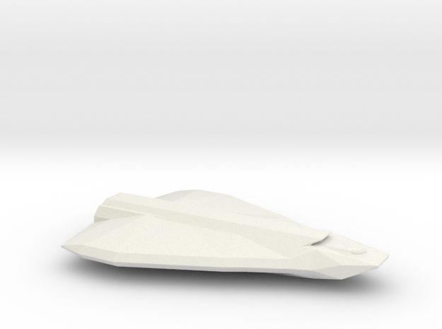 Gargantua-Class Shuttlecraft in White Natural Versatile Plastic