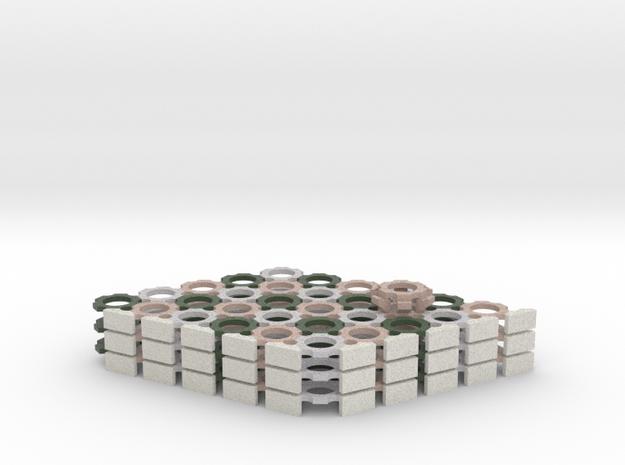 "11"" 91hex Cyvasse board in Full Colour Sandstone 3d printed"