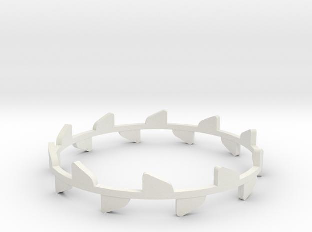 Bracelet Rose x2 in White Natural Versatile Plastic