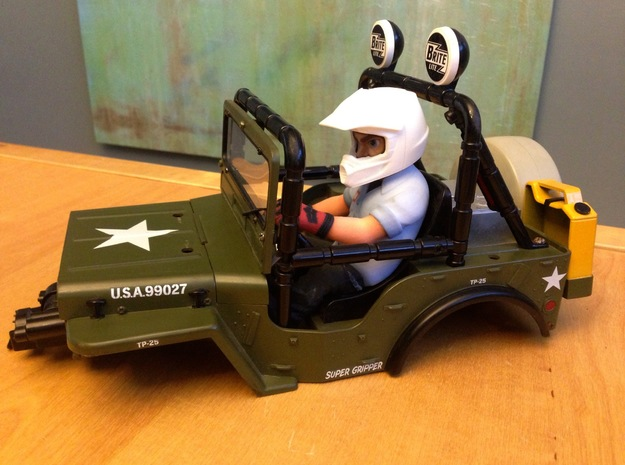 WW10012 Wild Willy Moto Colour Printed Face 3d printed Direct fit with the Tamiya Wild Willy body set