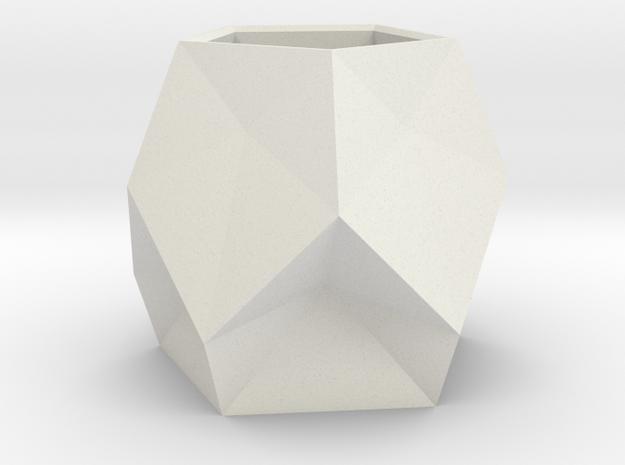 5 Faceted Pot 1(origin) in White Natural Versatile Plastic