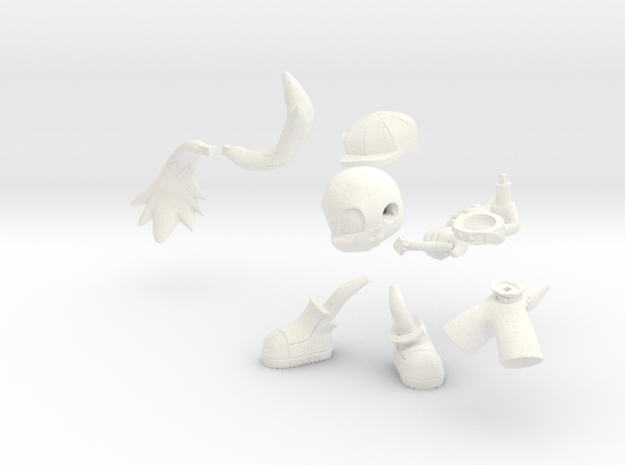 Klonoa in White Strong & Flexible Polished