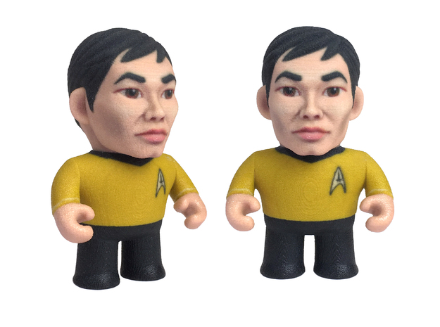 Sulu Star Trek Caricature in Full Color Sandstone