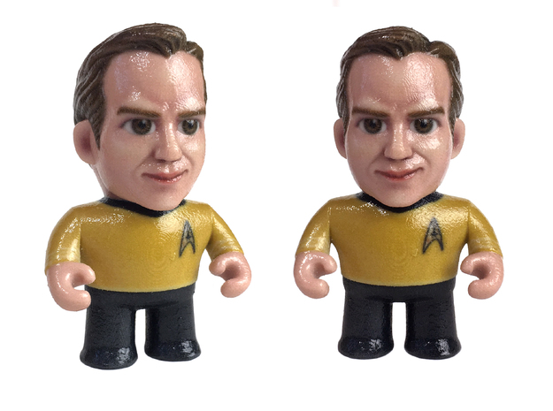 Kirk Star Trek Caricature in Glossy Full Color Sandstone