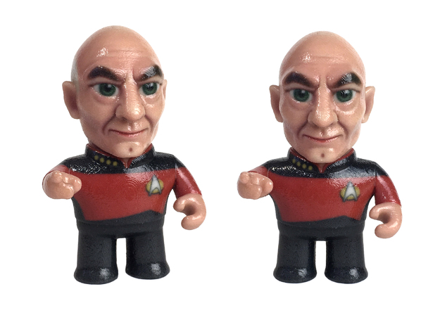 Picard Star Trek Caricature in Coated Full Color Sandstone