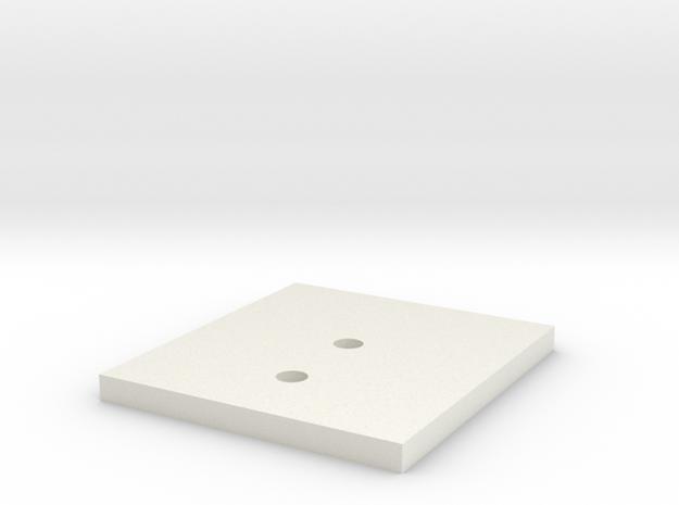 LPA NN-14 Front Backer Plate in White Natural Versatile Plastic
