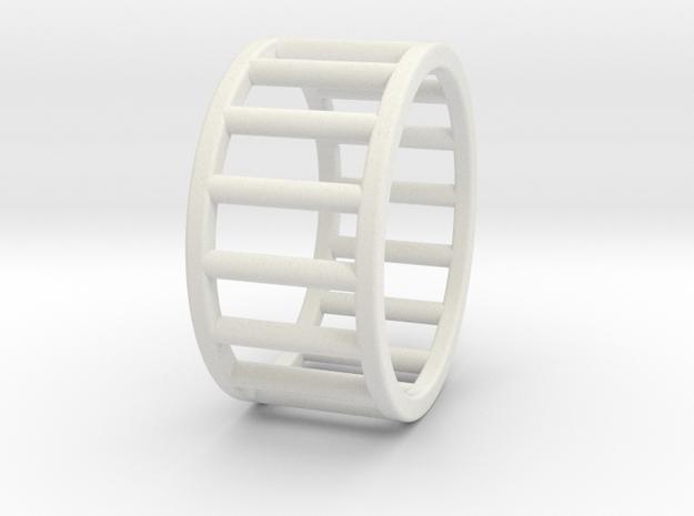 Albaro Ring Size-7 in White Natural Versatile Plastic