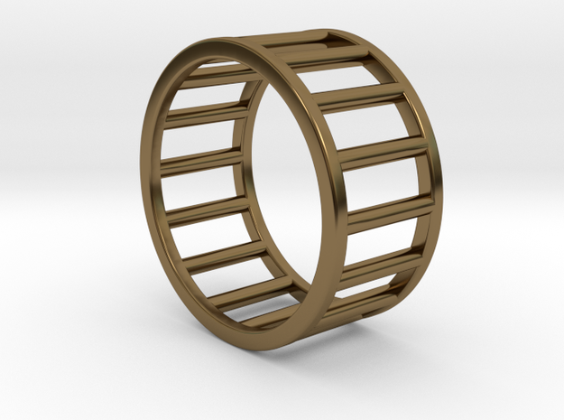 Albaro Ring- Size,8 in Polished Bronze