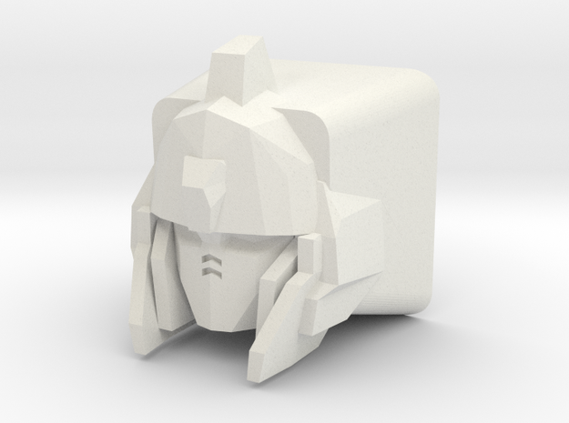 Unicorn Gundam Cherry MX Keycap (No Horns) in White Natural Versatile Plastic