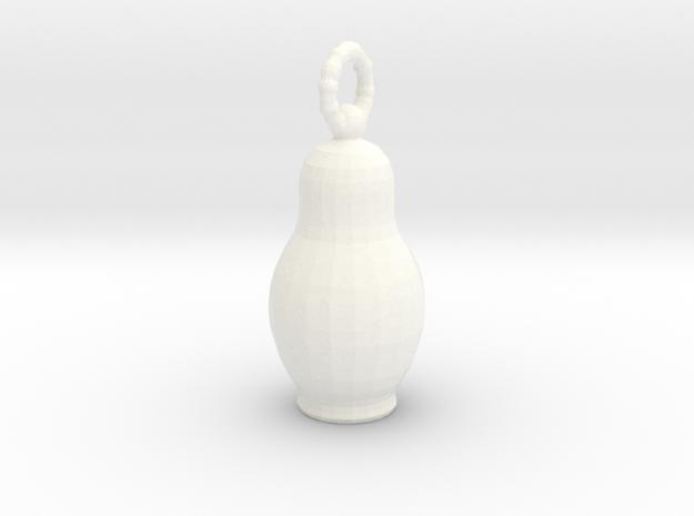 Pendantmatreshka in White Strong & Flexible Polished