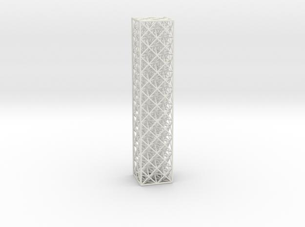Octet Truss Beam (2x2x10) in White Natural Versatile Plastic