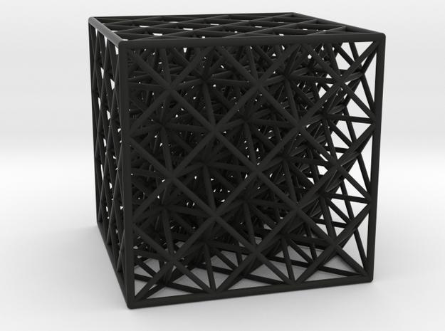 Octet Truss Cube (3x3x3)  3d printed