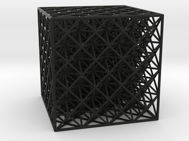Octet Truss Cube (4x4x4) 3d printed