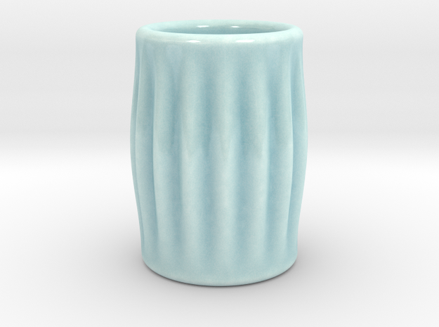 DRAW shot glass - feeling groovy in Gloss Celadon Green Porcelain