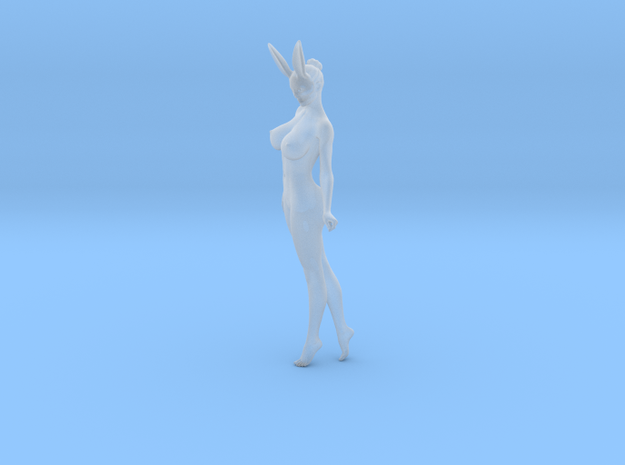 Bunny lady 001 1/24 in Smooth Fine Detail Plastic