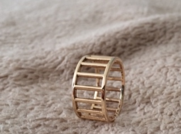 Albaro Ring Size-13 in 18k Gold Plated Brass