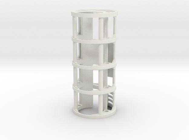 GCM121-01-CF - CF8 / PC3.5 + 18650  in White Natural Versatile Plastic