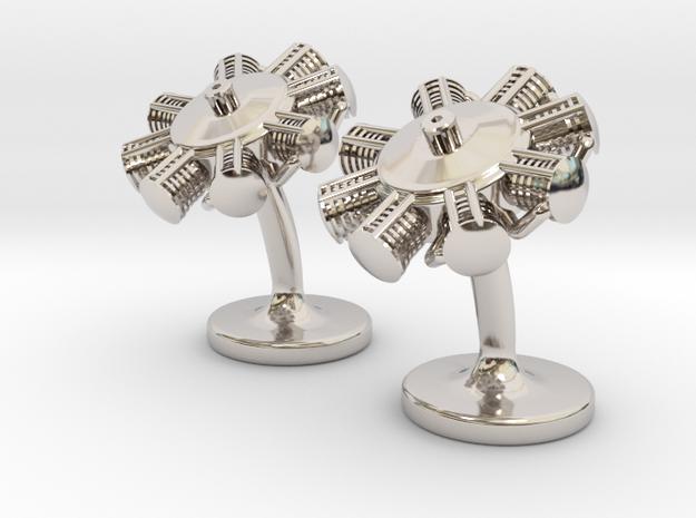 Radial Engine Cufflinks