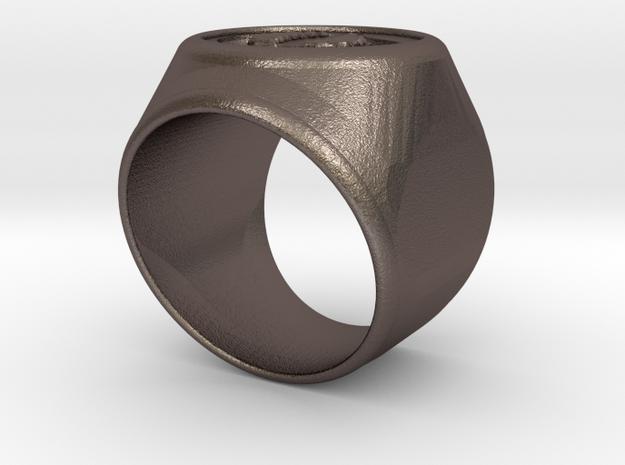 Riga signet Ring 16.5mm diameter in Stainless Steel