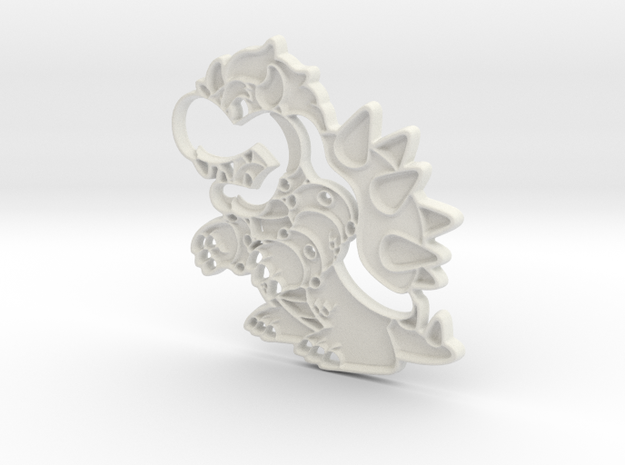 Paper Bowser in White Strong & Flexible