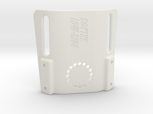Scythe low-ride holster platform for 50mm duty bel in White Strong & Flexible