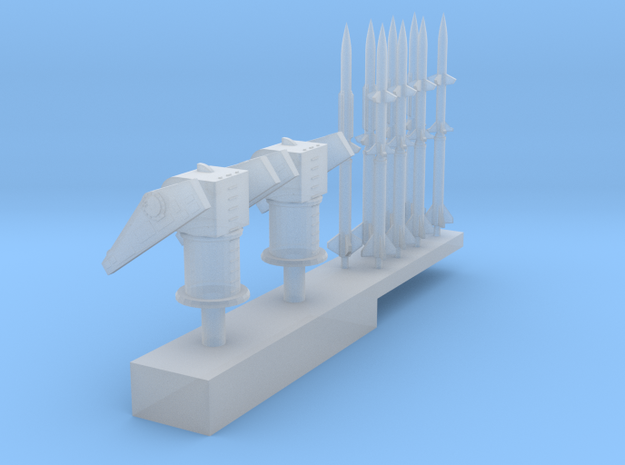 1:500 Scale Mk 10 Terrier Missile Launchers in Smooth Fine Detail Plastic