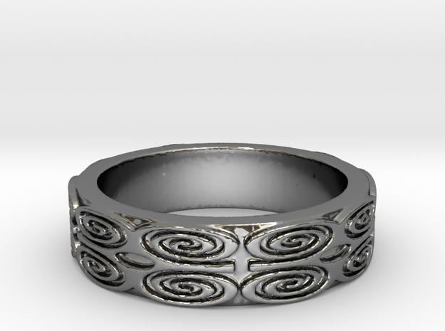 Dwennimmen (strength) Ring Size 7 in Fine Detail Polished Silver