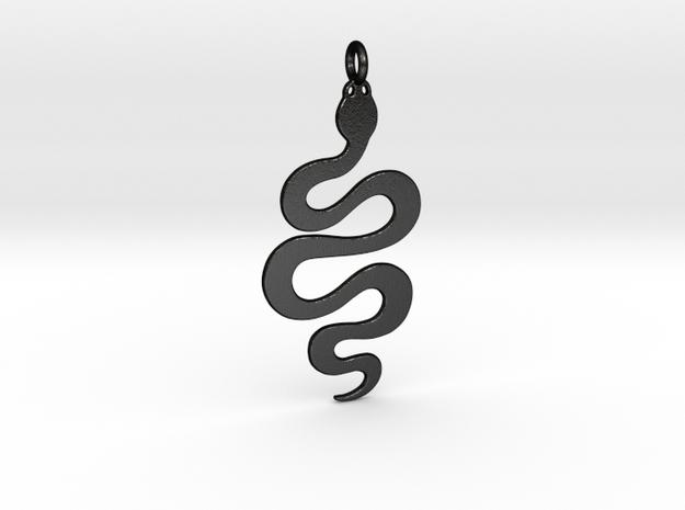 Snake in Matte Black Steel